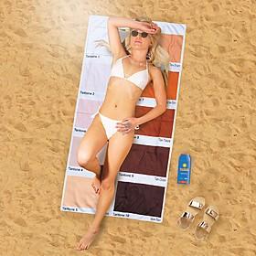 Toalla de playa con pantone de tonos de bronceado