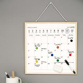 Pizarra con calendario planificador perpetuo