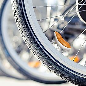Hámster con purpurina para la rueda de la bicicleta
