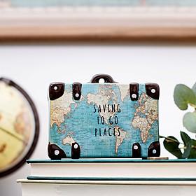 Hucha original con forma de maleta