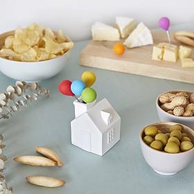 Tenedores de aperitivo con forma de globos de colores