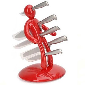Household & Kitchen Red Voodoo Knife Block