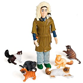Figurita Articulada 'Crazy Cat Lady'