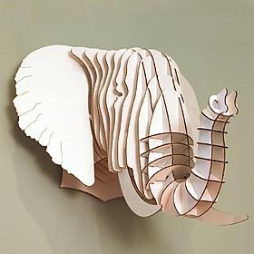 Cabeza de Elefante de Cartón Grande, 'Eyan'