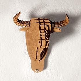 """Cabeza de Toro de Cartón Pequeña """"Micro-Toro"""""""