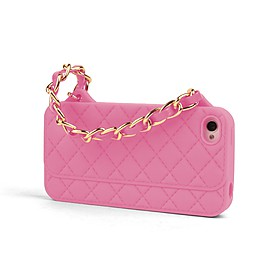 Funda iPhone 5 Bolso Acolchado Rosa