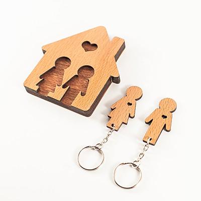 Colgador de llaves chico y chica - Regalos parejas originales ...
