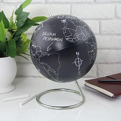 globo terraqueo pizarra - ideas regalo para viajeros