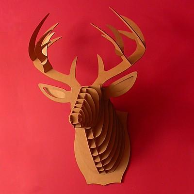 Cabeza de ciervo de cart n grande bucky - Cabeza de ciervo decoracion ...