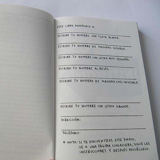La autora te da instrucciones sobre cómo actuar