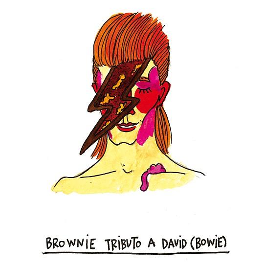 Prepara un brownie pensando en Bowie