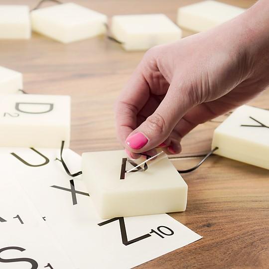 Las pegatinas de las letras son reutilizables