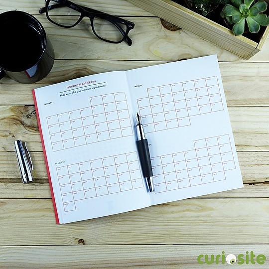 Un planificador mensual