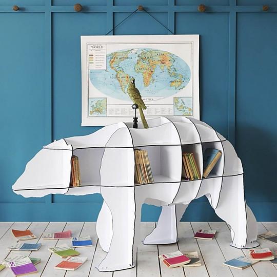 La impresionante estantería oso polar