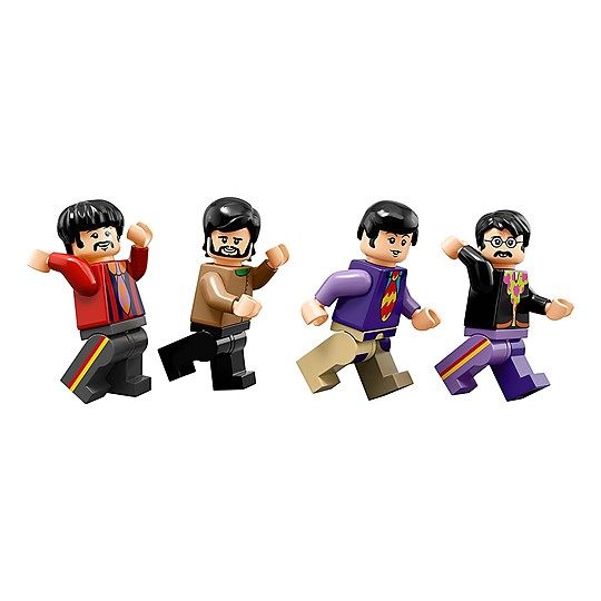 Incluye las minifiguras de The Beatles