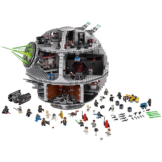 La estrella de la Muerte en versión LEGO Star Wars