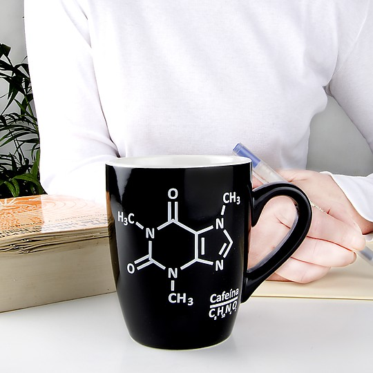 La taza para cafeinónamos con espíritu científico