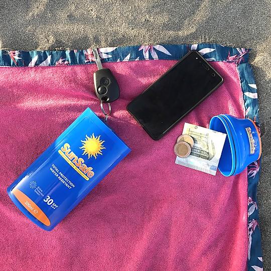 Un estuche para la playa camuflado