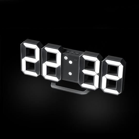 Un reloj despertador de aire futurista