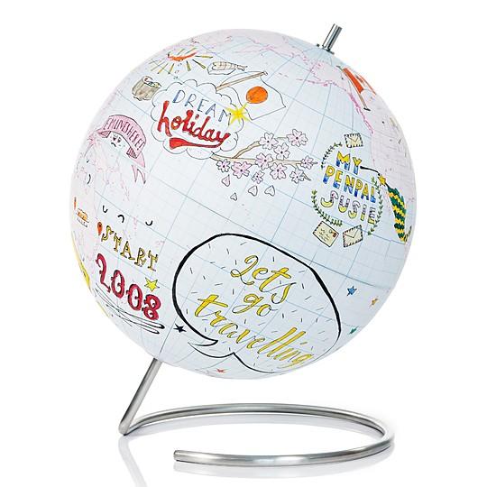 Un globo terráqueo personalizable