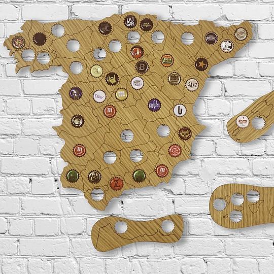 Un precioso mapa para cerveceros coleccionistas
