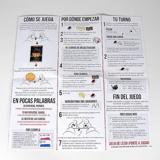 Con detalladas instrucciones en español