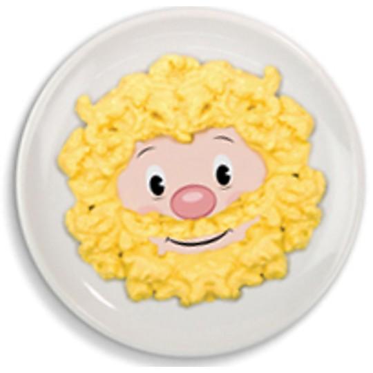 Un hombre peludo hecho con huevos revueltos