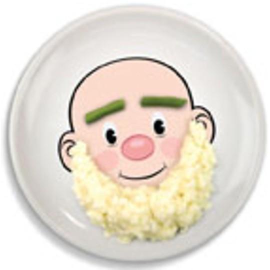 Barba de huevos y cejas de judías