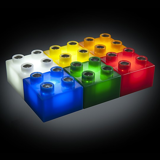 Incluye 24 bloques en seis colores
