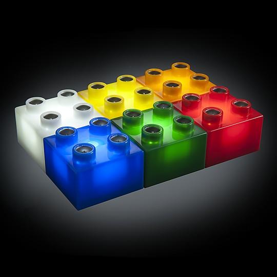 Los bloques son de seis colores