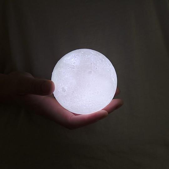 La lámpara luna en tamaño mini