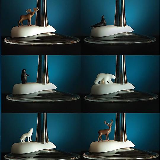 Marcadores para copas de animales árticos