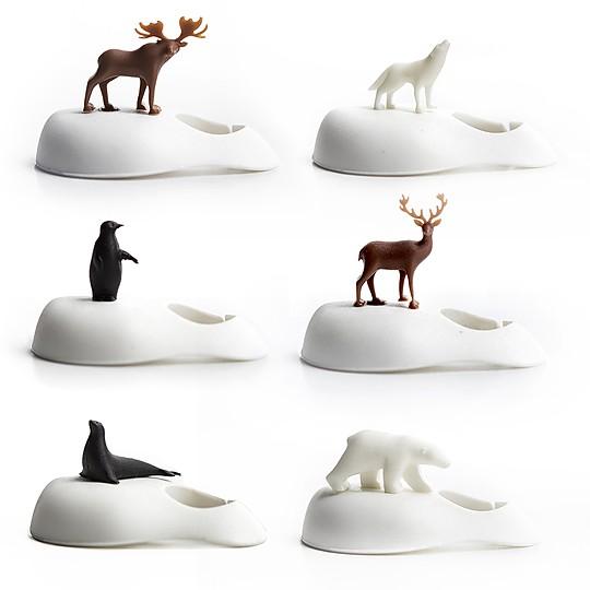 Seis animales diferentes