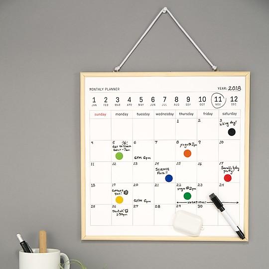 Una pizarra calendario para tener todo organizado