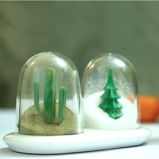 Un salero-pimentero inspirado en las estaciones del año