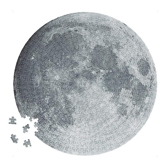Un precioso puzzle circular de la Luna