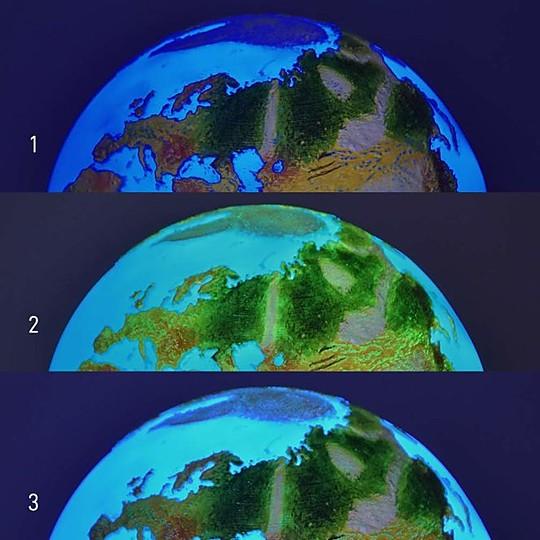 Tres modos de iluminación