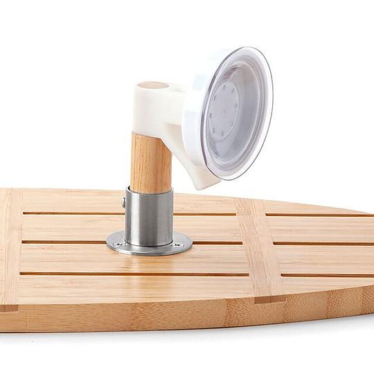 Fabricada en bambú, un material resistente y sostenible