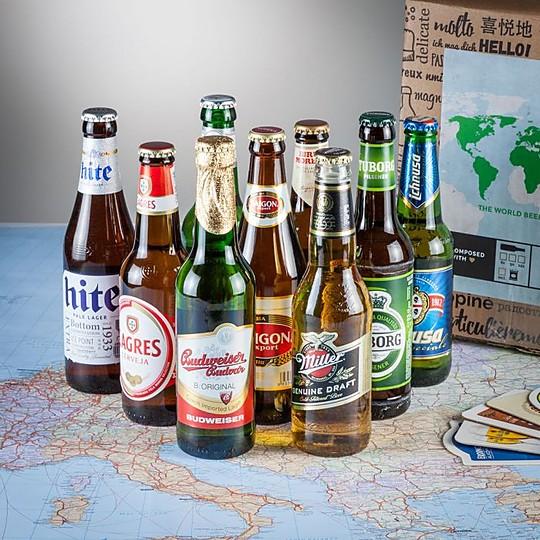 Un pack con nueve cervezas internacionales