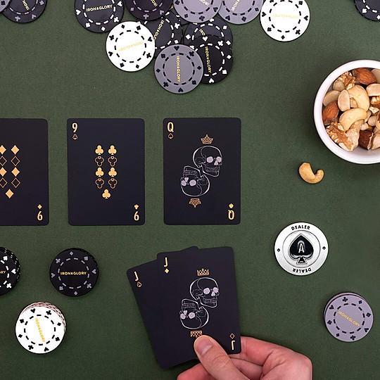 Un juego de póker de lujo
