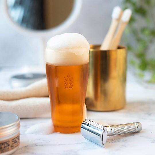 Pastilla de jabón con forma de pinta de cerveza