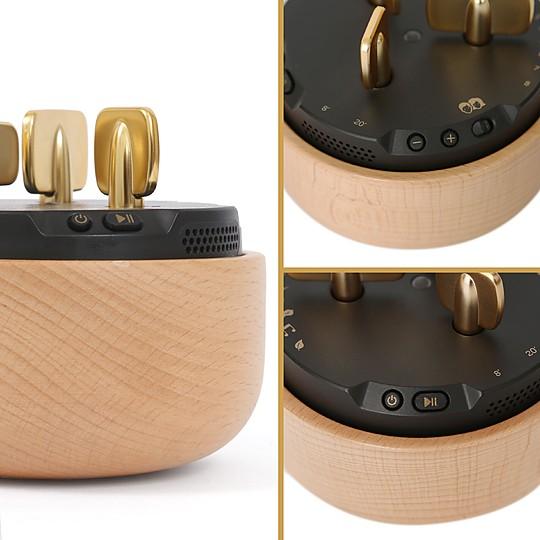 Precioso diseño con una carcasa de madera de haya