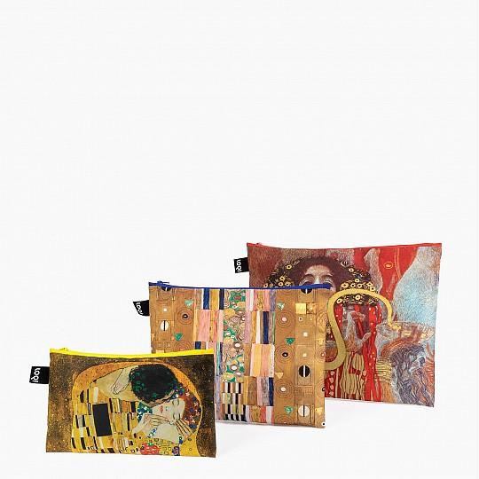Set de tres bolsitas con obras de Gustav Klimt