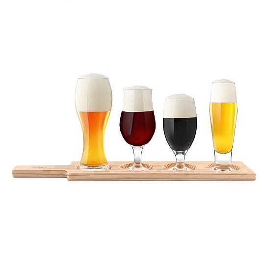 Incluye tabla de madera para presentar las copas