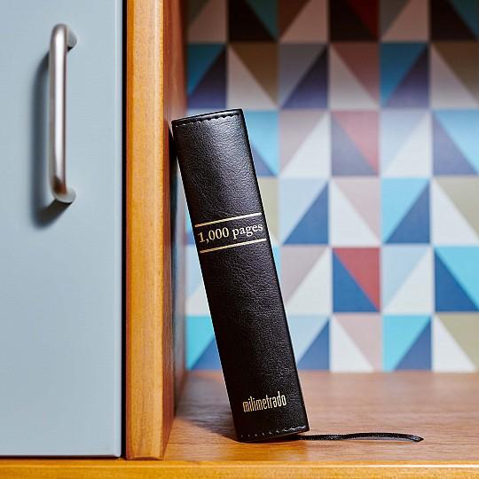 Tapa negra 2,5 mm de espesor forrada en cuero sintético