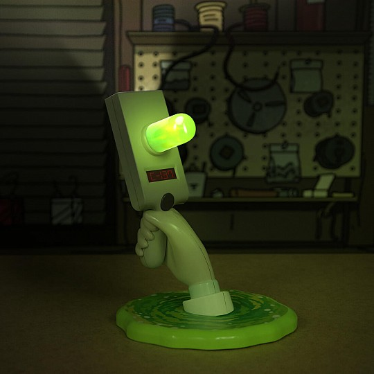 La pistola de portales de Rick se transforma lámpara con seis funciones de iluminación.