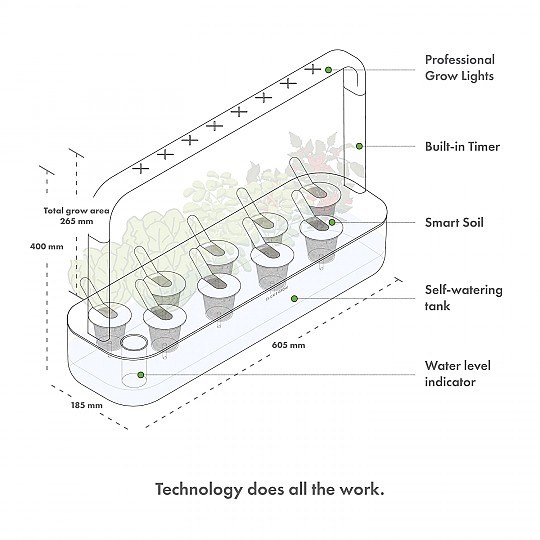 Podrás plantar diferentes variedades y crear tu mini huerto