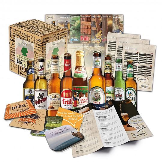 Un pack con nueve cervezas alemanas