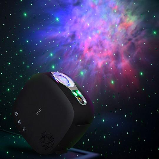 Un proyector láser con efecto crepúsculo