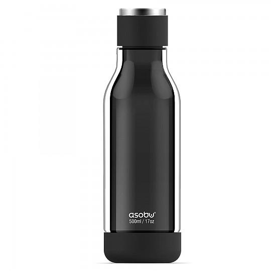 Una botella de vidrio con la resistencia de Tritan.